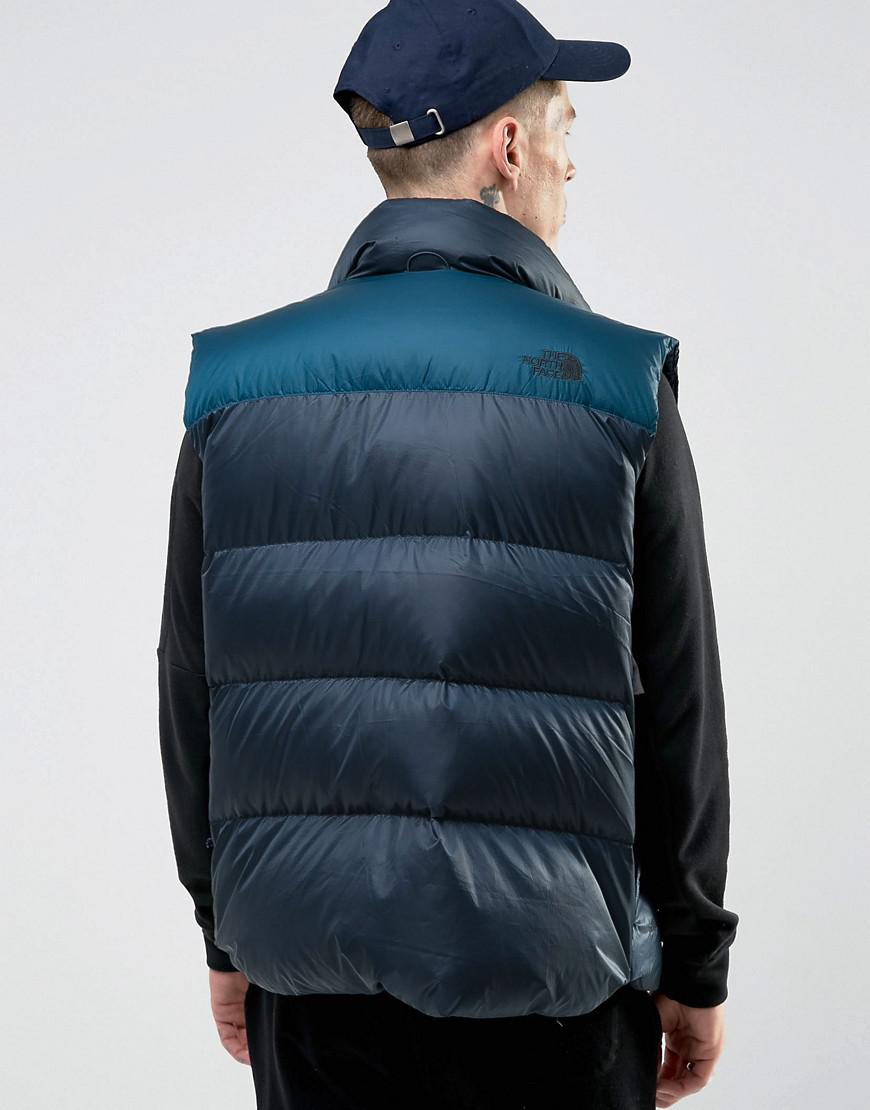 ... official lyst the north face nuptse3 down gilet in 2 tone navy in blue  for men 5e90dba95