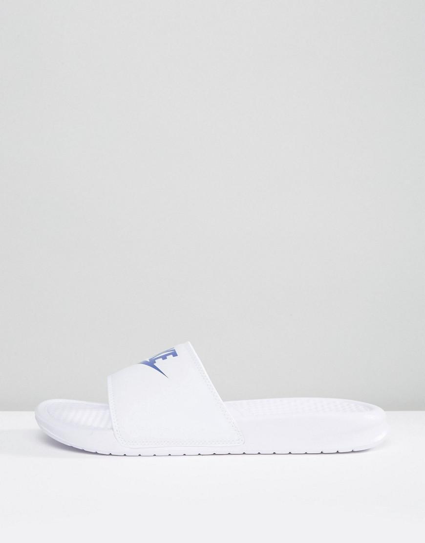 6a0a8453ef4fee Nike Benassi Jdi Sliders In White 343880-102 in White for Men - Lyst