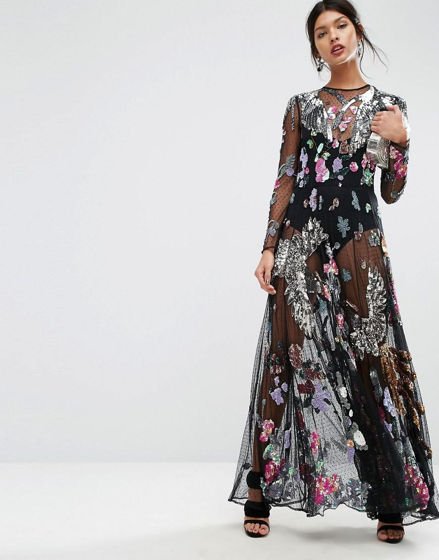 b599f2e102 Asos Black Floral Embroidered Dress - Gomes Weine AG