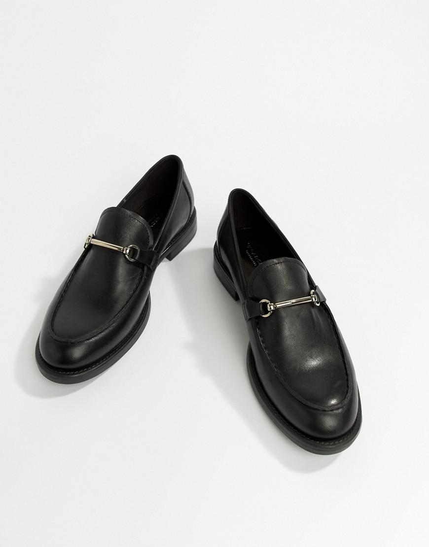 796dcb97bac Lyst - Vagabond Amina Leather Loafer With Horse-bit Detail in Black