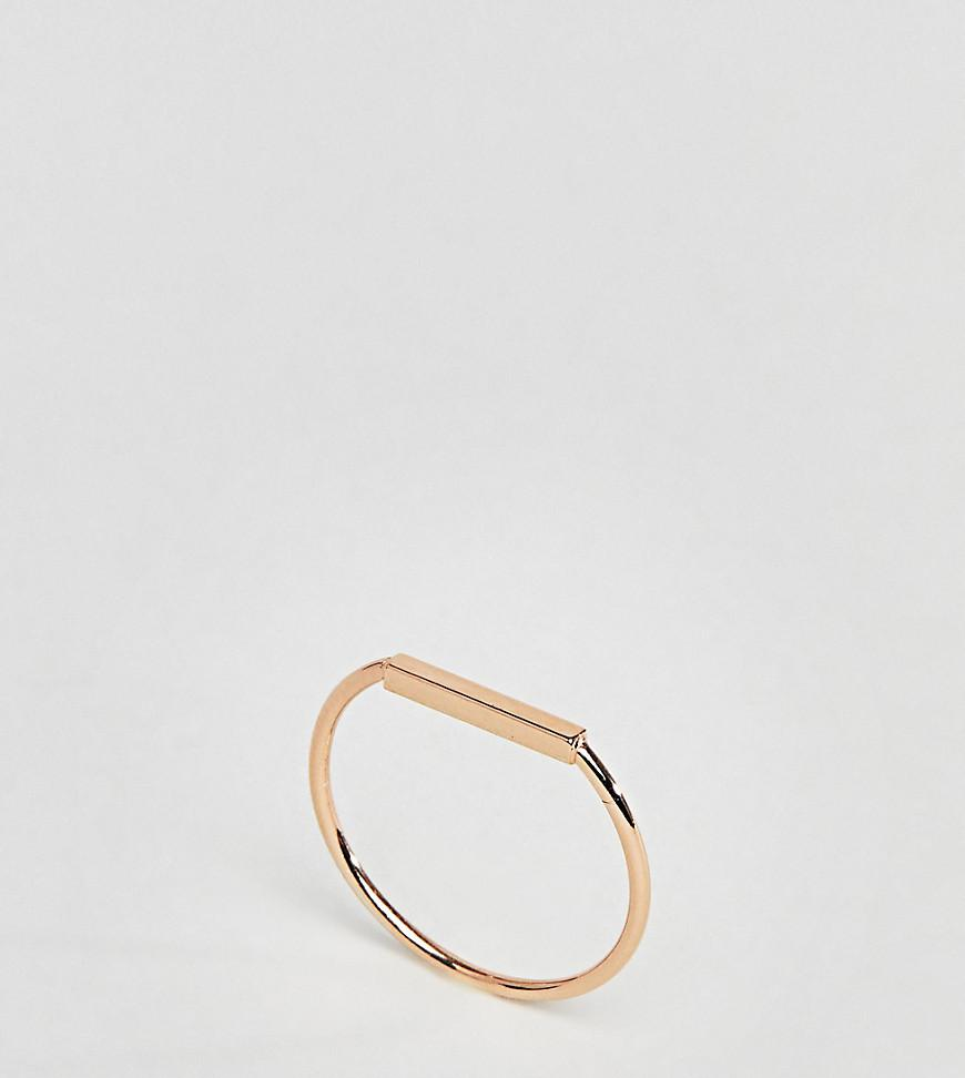 Gold Plated Sterling Silver Fine Twist Ring - Gold Asos tG2ABZq
