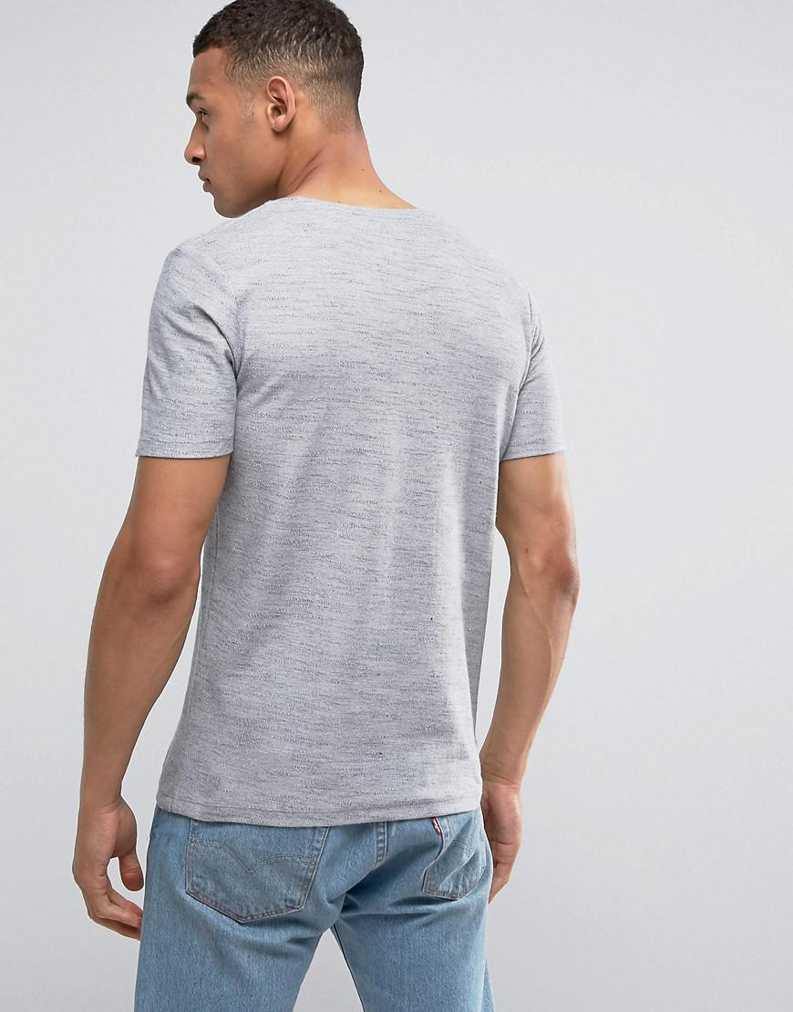 Lyst jack jones crew neck t shirt in white for men for Crew neck white t shirt
