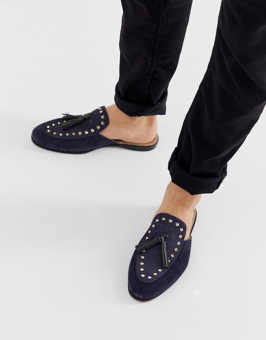 b59b3e09d68 Lyst - House Of Hounds Helios Slip On Loafers In Navy Suede in Blue ...