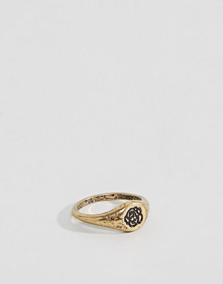 Asos DESIGN Ring With Rope Emboss In Burnished Silver - Silver 8ZOa3HlX