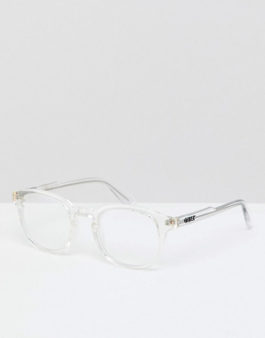 e5639d243c Lyst - Quay Walk On Square Clear Lens Glasses In Clear for Men ...