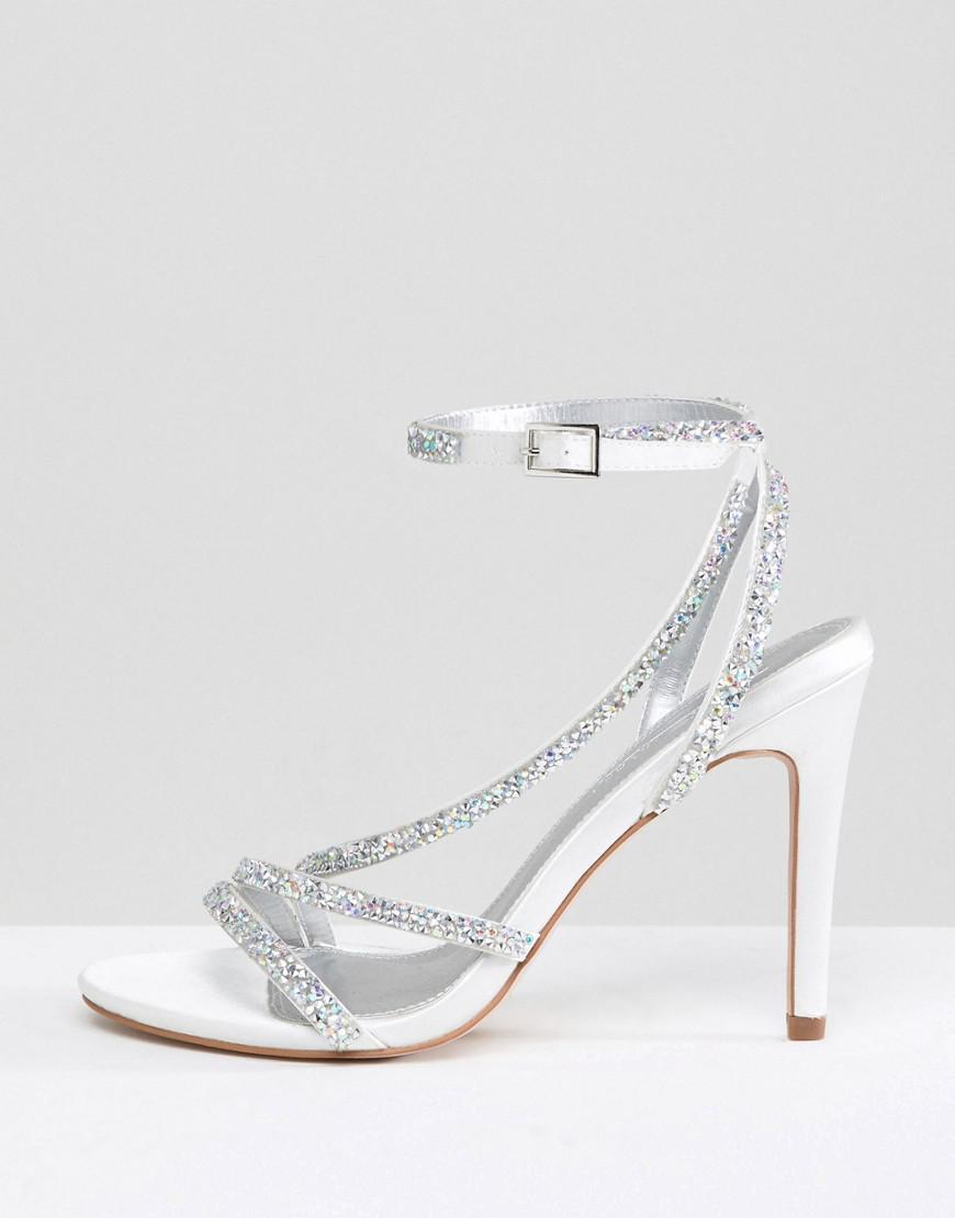 c236e0e3ce02 ASOS Hypnotic Wide Fit Bridal Embellished Heeled Sandals - Lyst