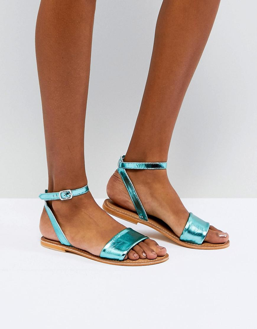 ASOS FLORENCE Leather Flat Sandals ZrrIWWEXY8