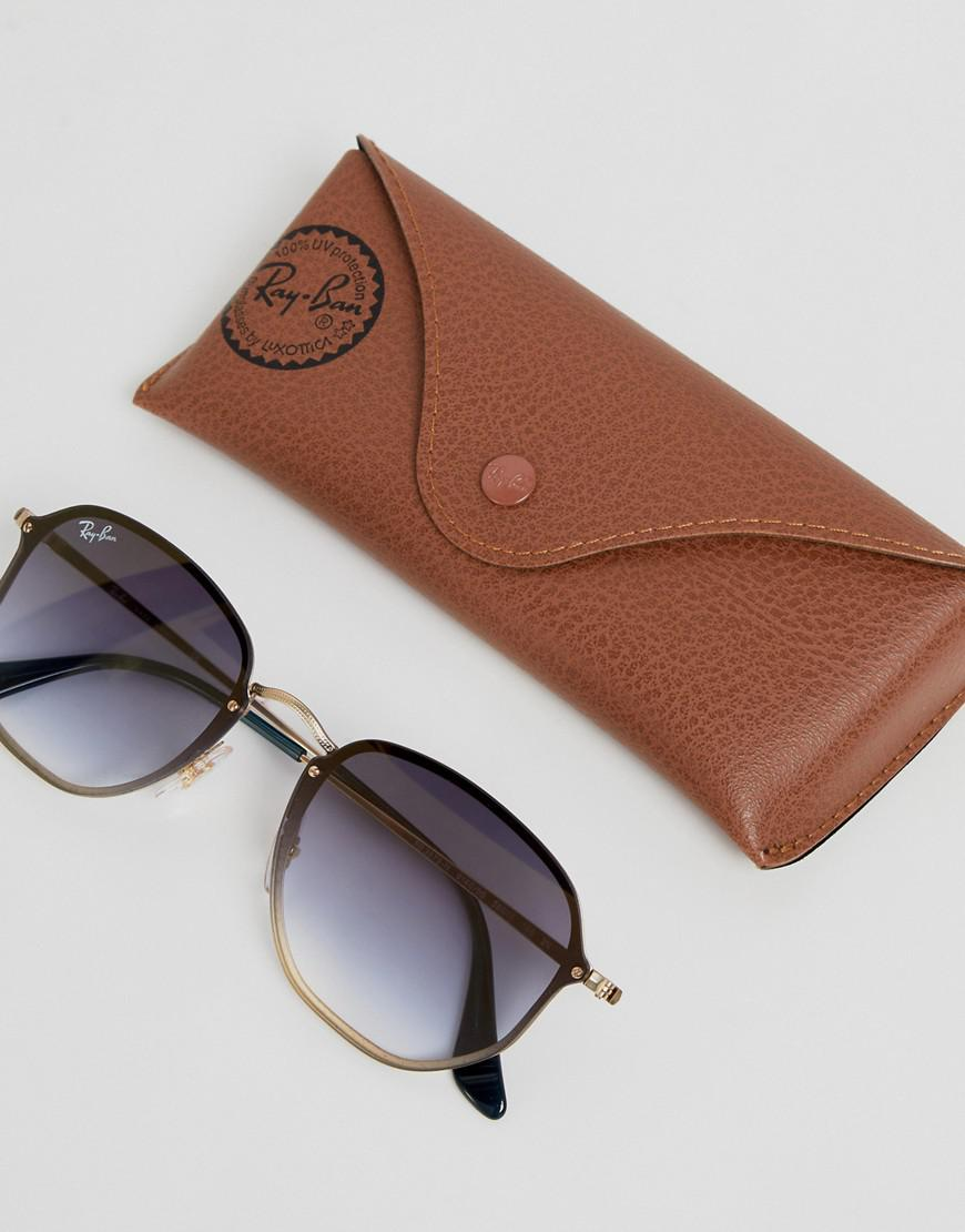 05f7e5dd20 Ray-Ban 0rb3579n Round Sunglasses in Brown for Men - Lyst