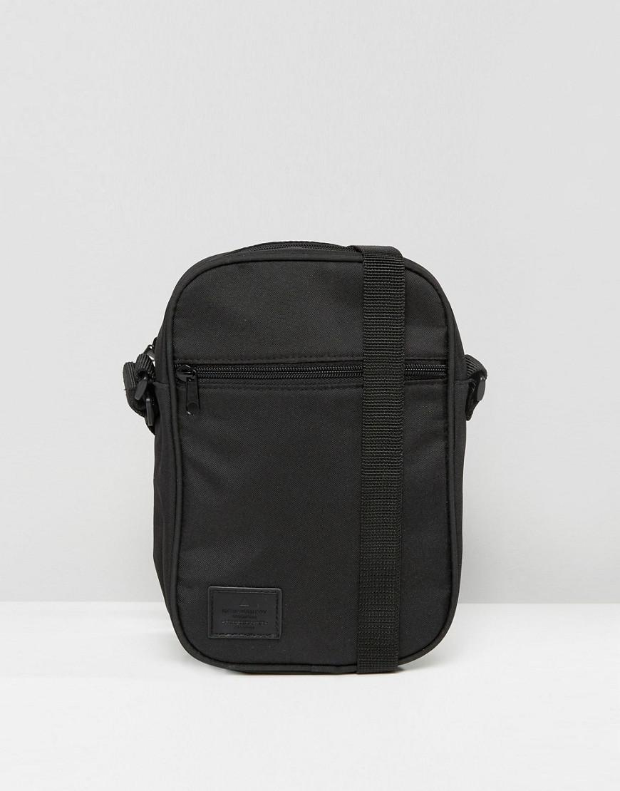 70b14c0c316 Lyst - ASOS Flight Bag In Black With Patch in Black for Men
