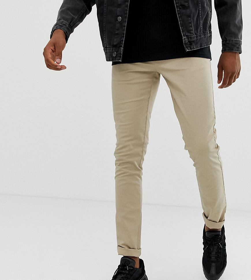 94d44ee60f01f9 Lyst - Asos Tall Skinny Chinos In Putty in Natural for Men