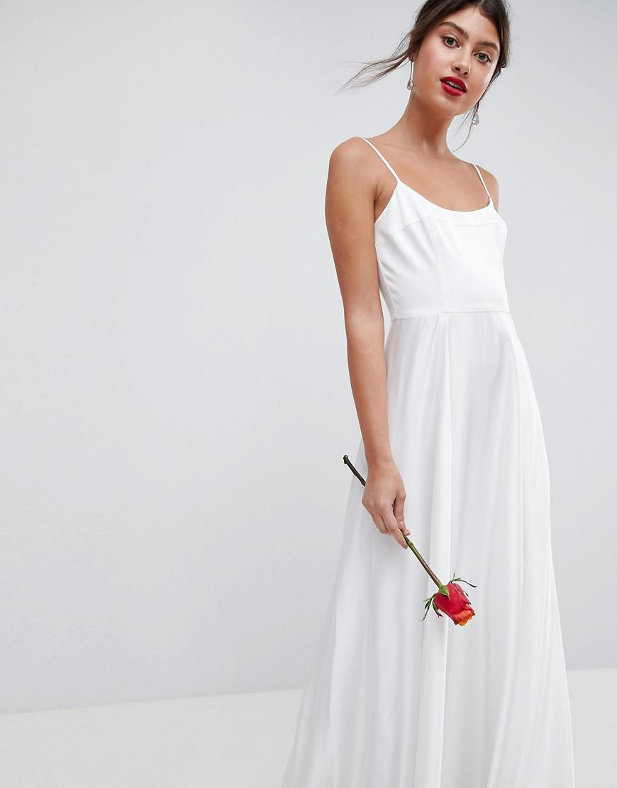 Lyst - Asos Edition Maxi Wedding Dress With Square Neck in White
