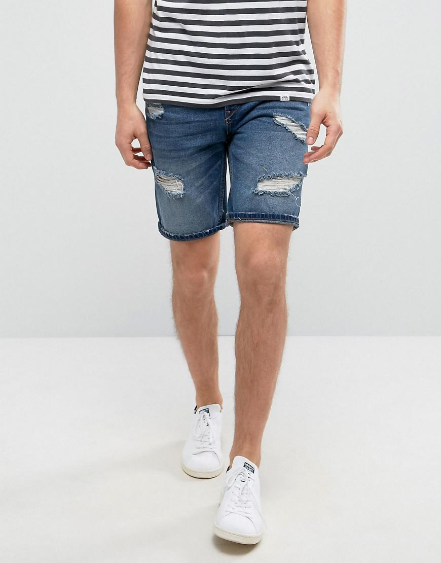 Cheap Store Pull&Bear Wash denim short Clearance Purchase Outlet Discount Authentic Discount Best Wholesale ML0dyczy
