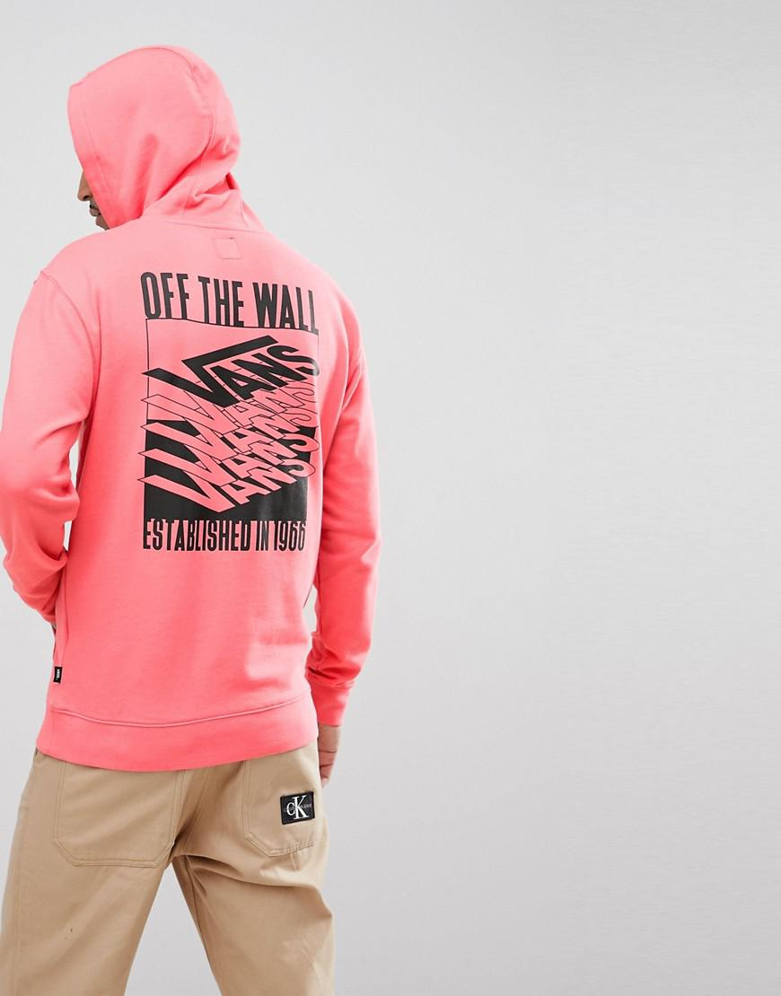 e29a5865ac1201 Vans Stack Up Pullover Hoodie With Back Print In Pink Va3hfieiy in ...