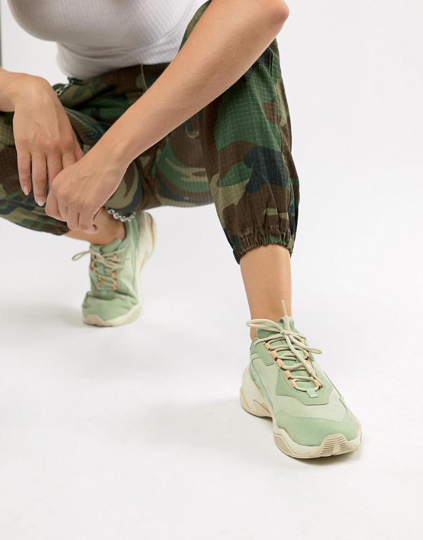 b4381943064a Lyst - PUMA Thunder Desert Green Trainers in Green - Save 52%