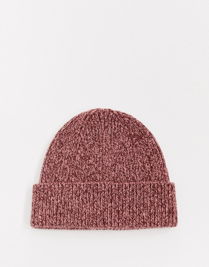 c9e728f03 Lyst - ASOS Fisherman Beanie In Pink Twist in Pink for Men