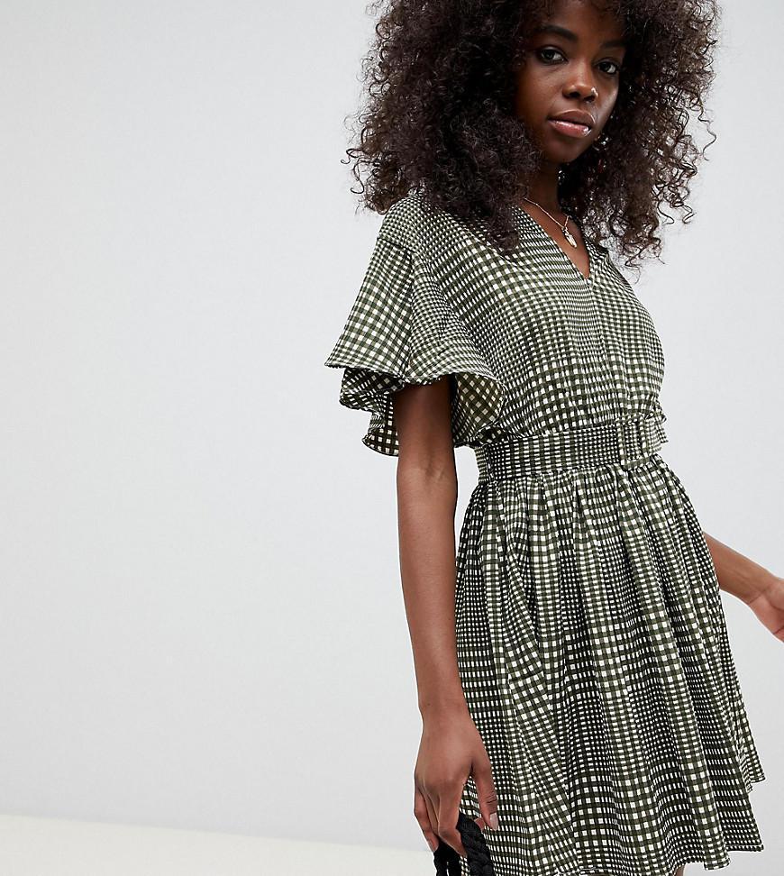 cc049f63b Vero Moda - Multicolor Check Belted Mini Dress - Lyst. View fullscreen