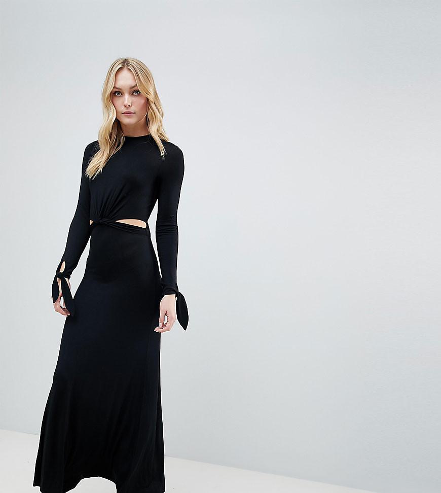 Lyst Asos Asos Design Tall Maxi Dress With Long Sleeve And Cut