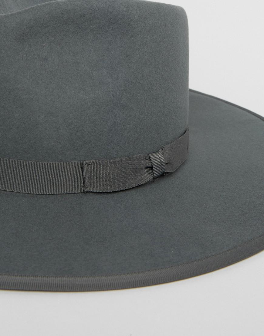 cf255e5f97a28 Brixton Homestead Fedora Hat in Gray for Men - Lyst