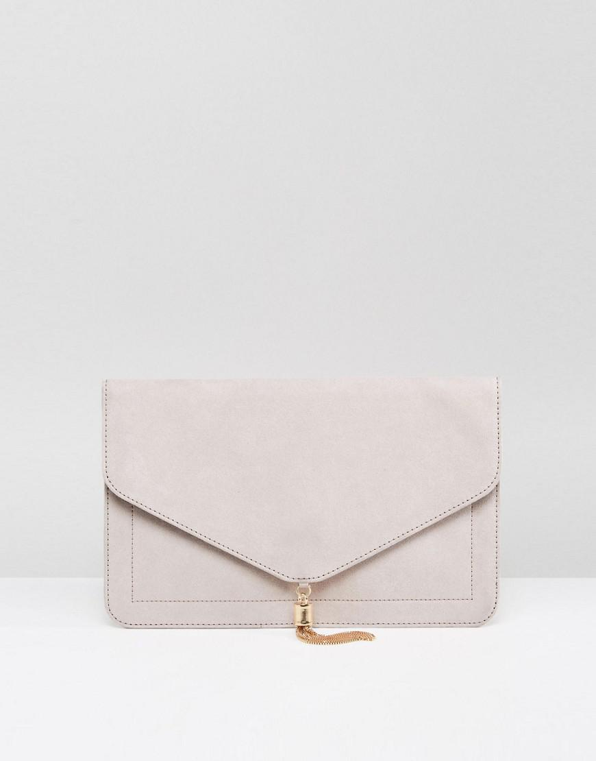 674cee848f5d Lyst - ASOS Tassel Clutch Bag in Natural - Save 21%