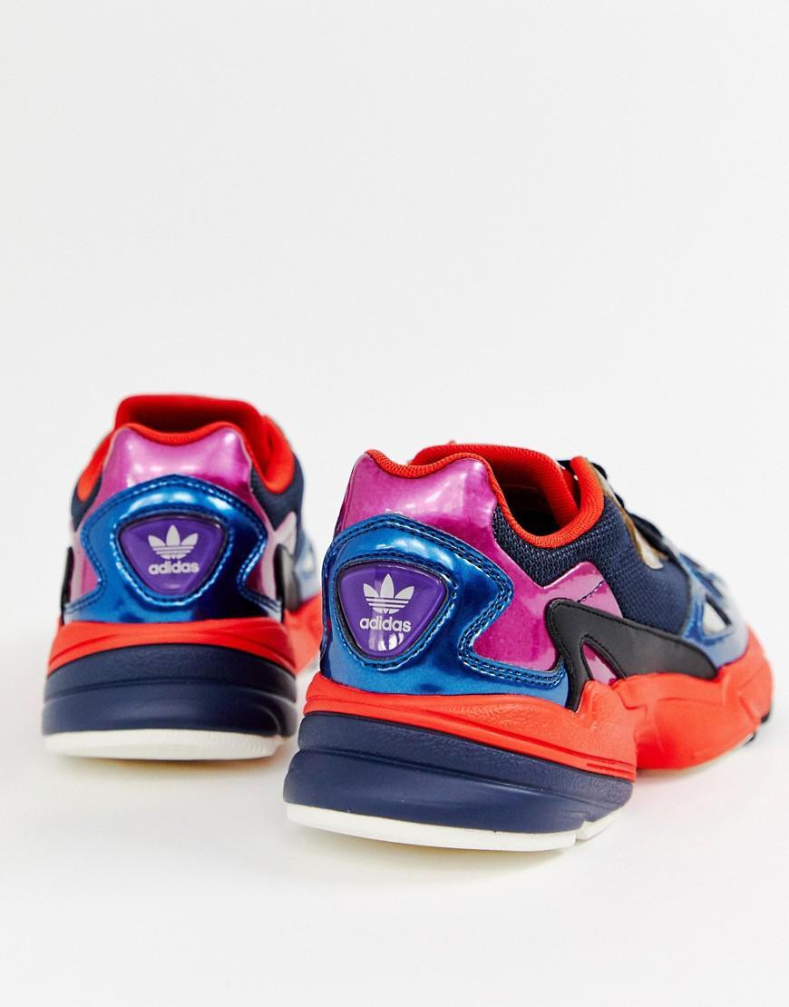 Adidas Originals Navy Metallic Falcon Sneakers In Blue Lyst