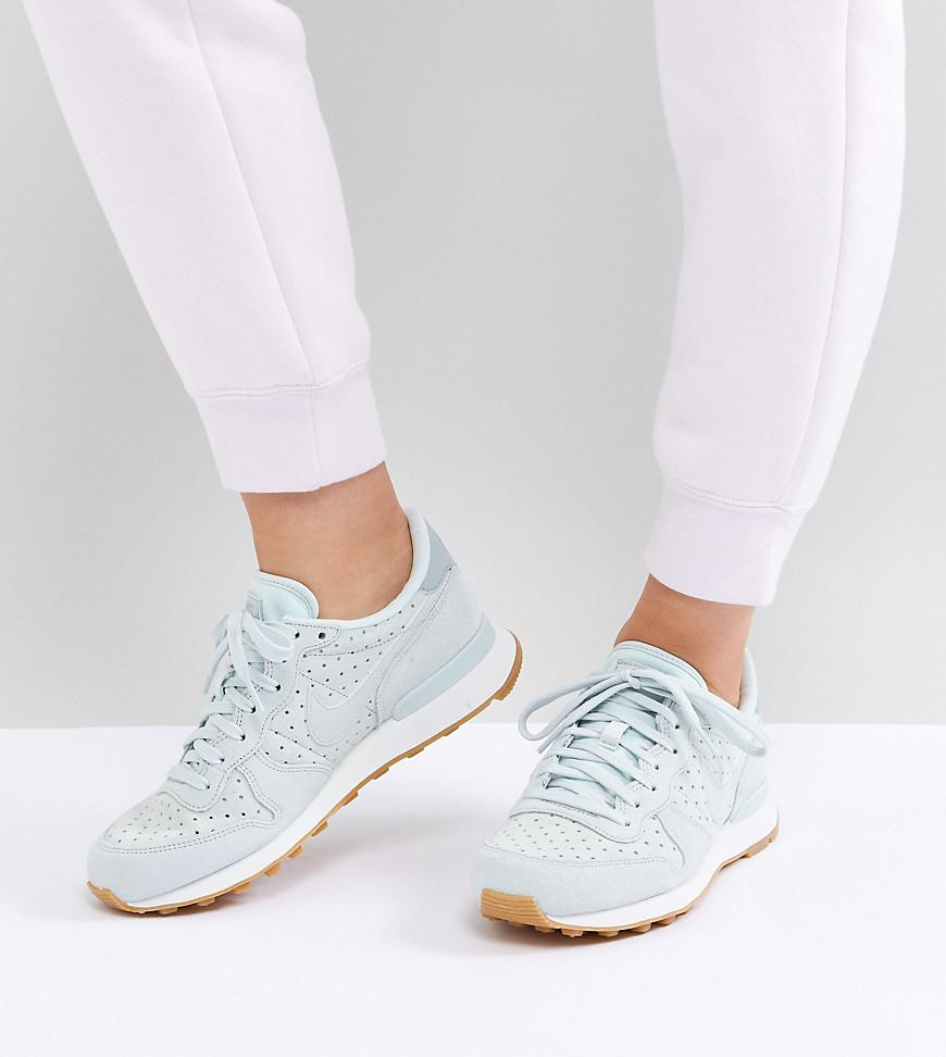 buy online 91460 147ce ... sale nike. womens premium internationalist trainers in blue 13eb4 fd1d8