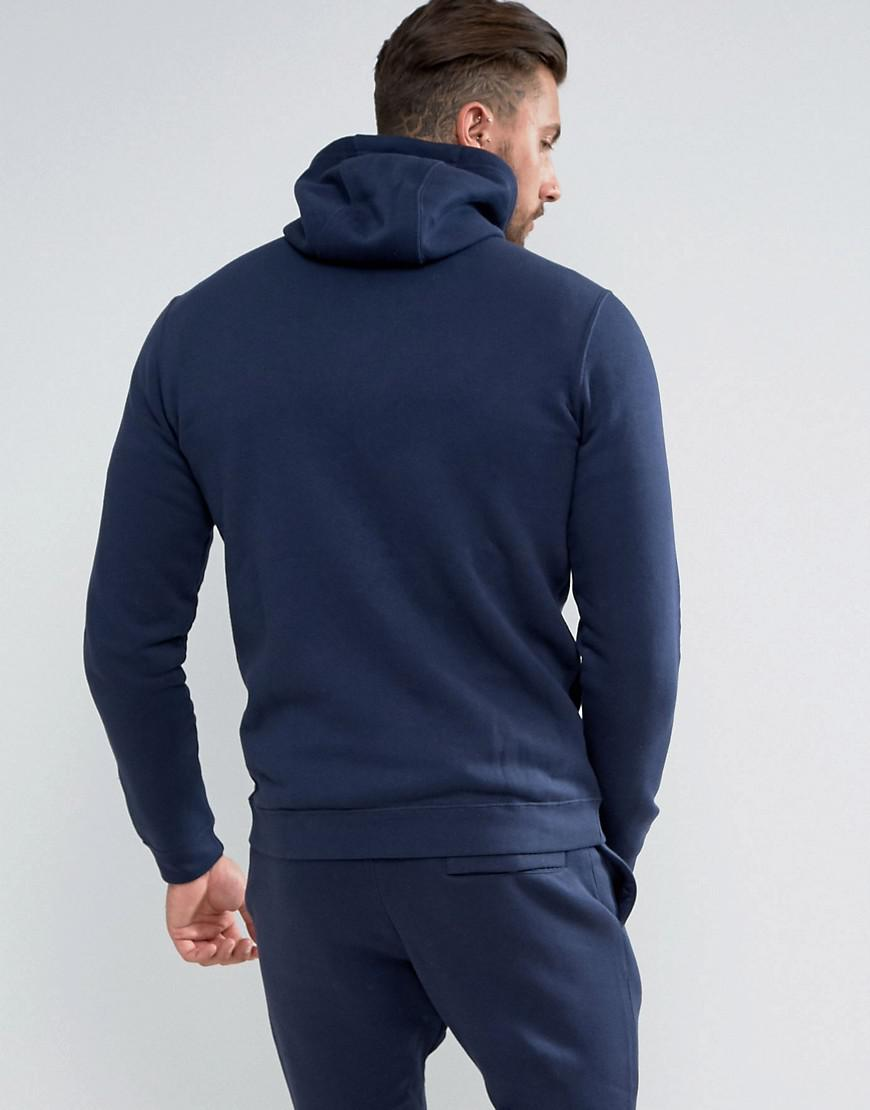7ea4cad9a2f8 Nike Zip Up Club Hoodie In Navy 804389-451 in Blue for Men - Save 6% - Lyst