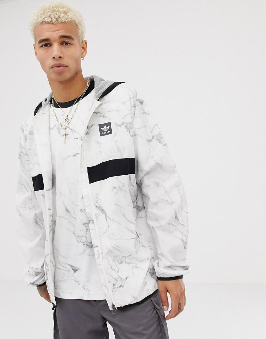 premium selection 8d793 030ef adidas Originals Marble Windbreaker In White Dh3880 in White for Men ...