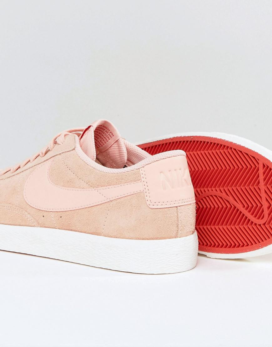 Nike Blazer Low Trainers In Pink 371760-801 in Pink for Men - Lyst 8f5ab0c2b3