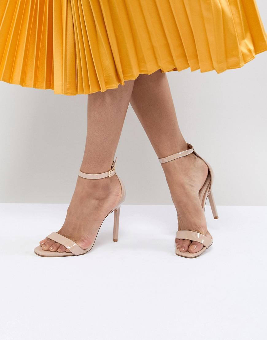 ca9f8817eaf Lyst - ALDO Derolila Heeled Sandals in Natural
