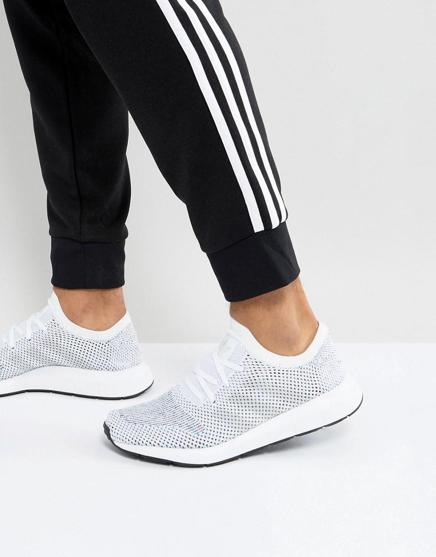 043e808533b5e adidas Originals Swift Run Primeknit Trainers In White Cg4126 in ...