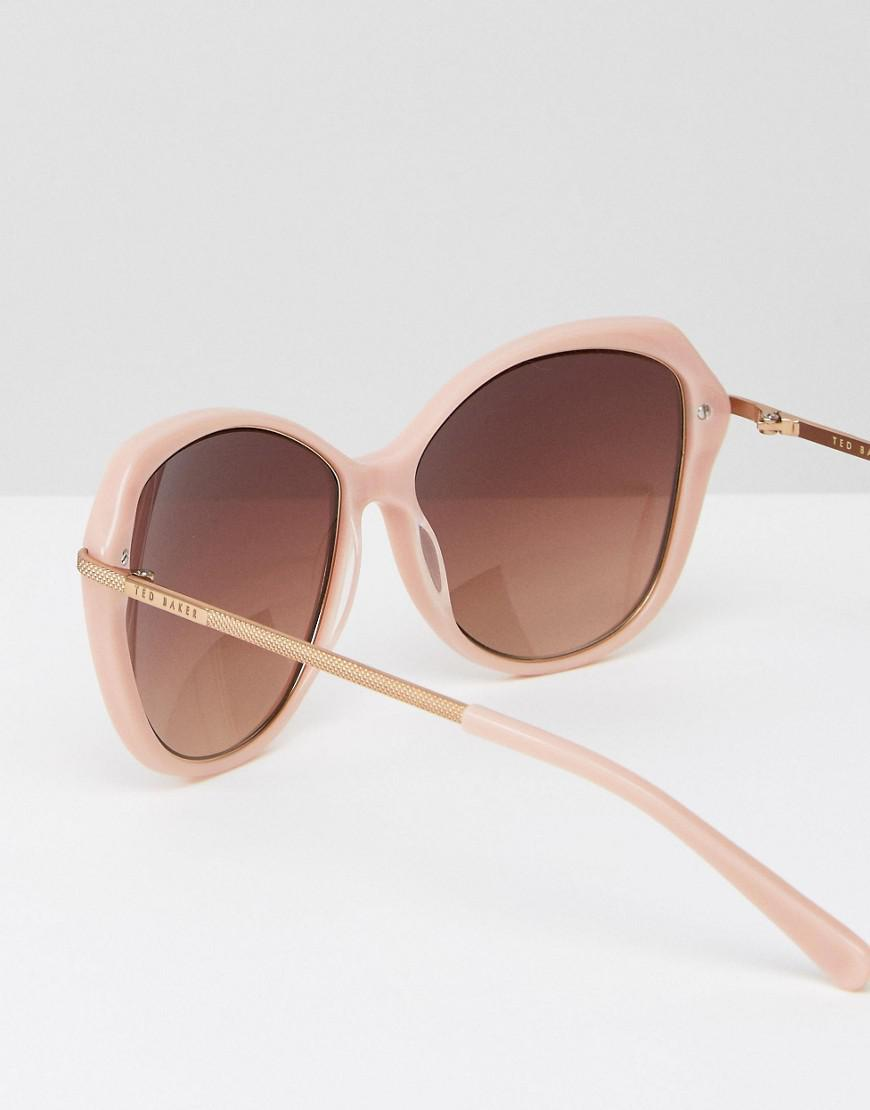 a90a5fbca3dc86 Ted Baker Lilla Cat Eye Sunglasses In Pink in Pink - Lyst