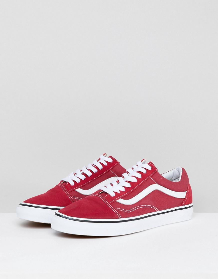 b4012106eb0 Vans Old Skool Trainers In Red Va38g1q9u in Red for Men - Lyst