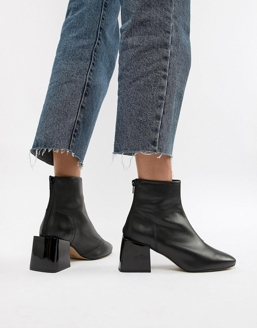 df1c1de38a06 Lyst - ASOS Rome Leather Ankle Boots in Black
