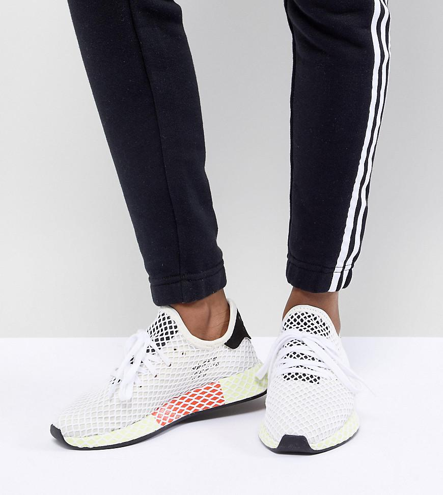 adidas Originals. Women s Black Deerupt Runner Trainers In White ... c315fe3b9