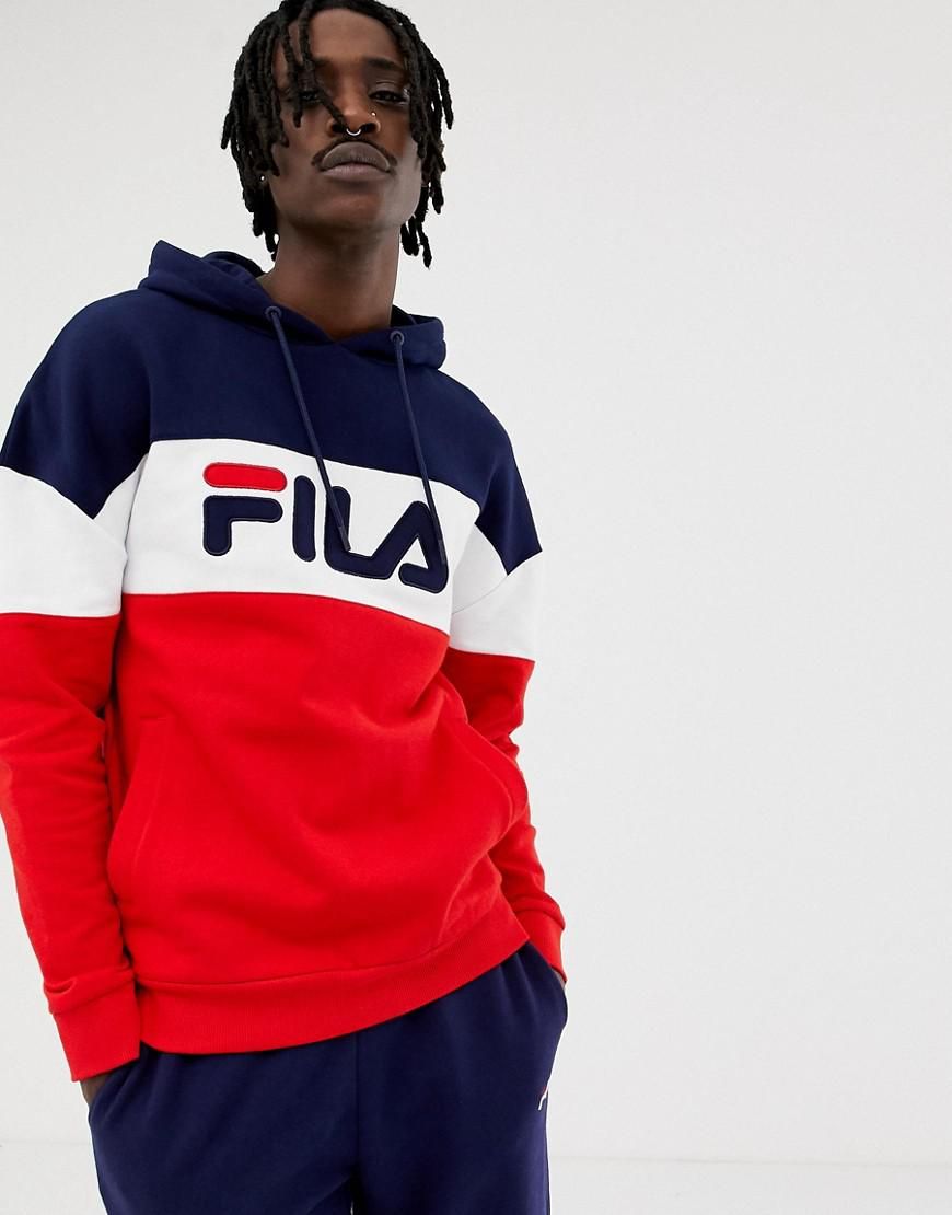 97ba32fc0d Fila Black Line Rayton Panel Hoodie In Red in Red for Men - Save 5 ...