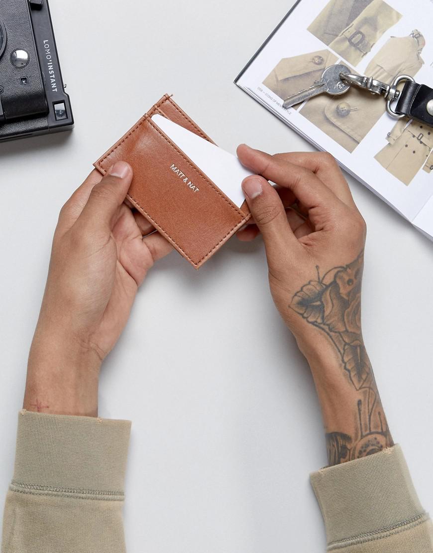 Matt Amp Nat Max Card Holder In Brown For Men Lyst