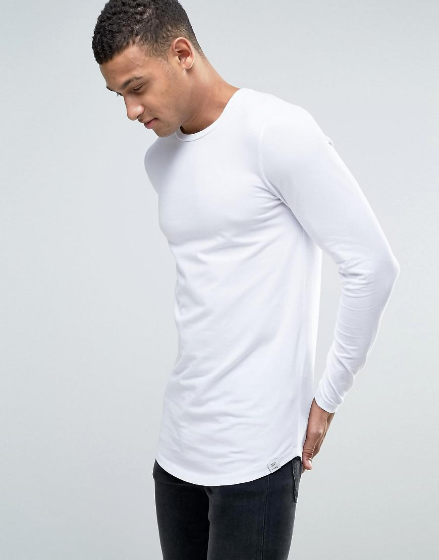 b0a1f4b5f Jack   Jones Core Muscle Fit Long Sleeve T-shirt in White for Men - Lyst