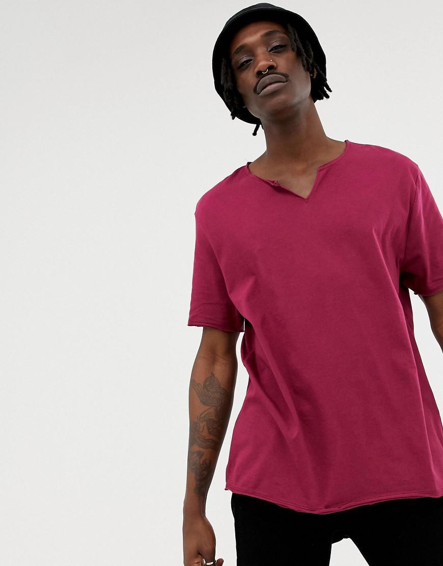 cc686f06d13 Lyst - T-shirt dcontract avec col crant bord brut ASOS pour homme en ...