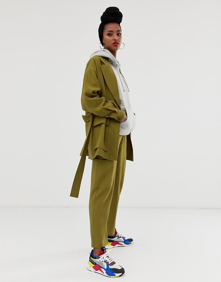 5165df83ff ASOS - Green Pantalones de traje tipo safari de - Lyst. Ver en pantalla  completa