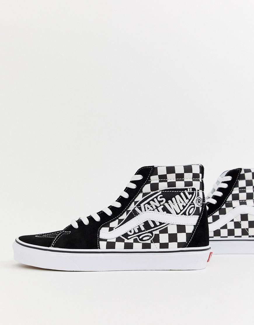 23f747e970 Vans Sk8-hi Trainers With Otw Patch In Black Vn0a38geupv1 in Black ...