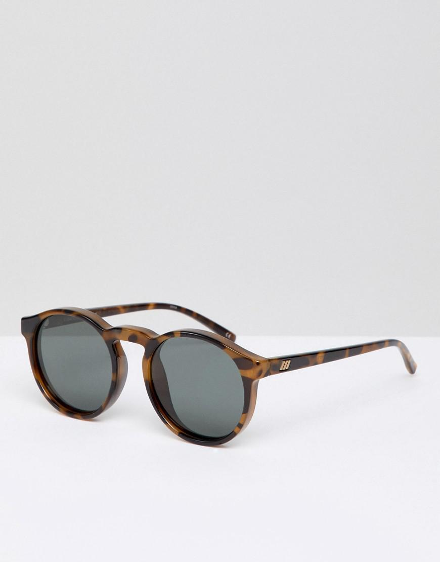 6f53f706af Le Specs Round Polarized Sunglasses In Tort in Brown for Men - Lyst