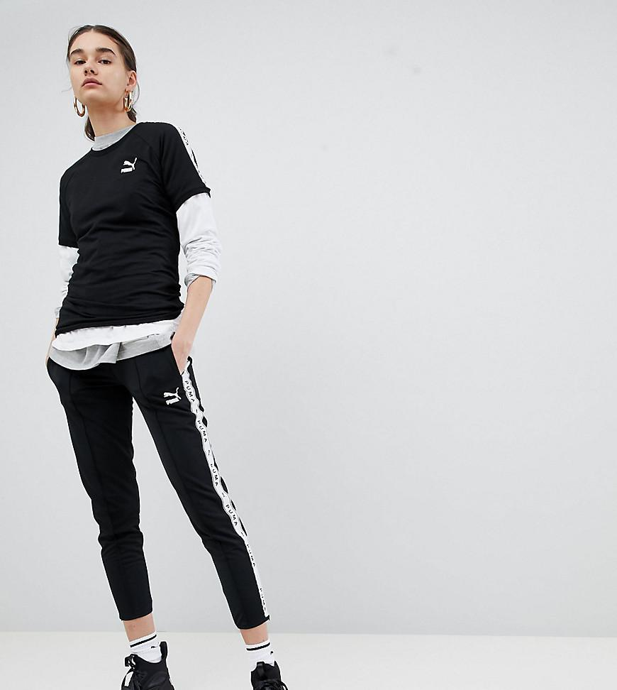7da6c2305992 Lyst - PUMA Exclusive To Asos Taped Side Stripe Track Pants In Black ...