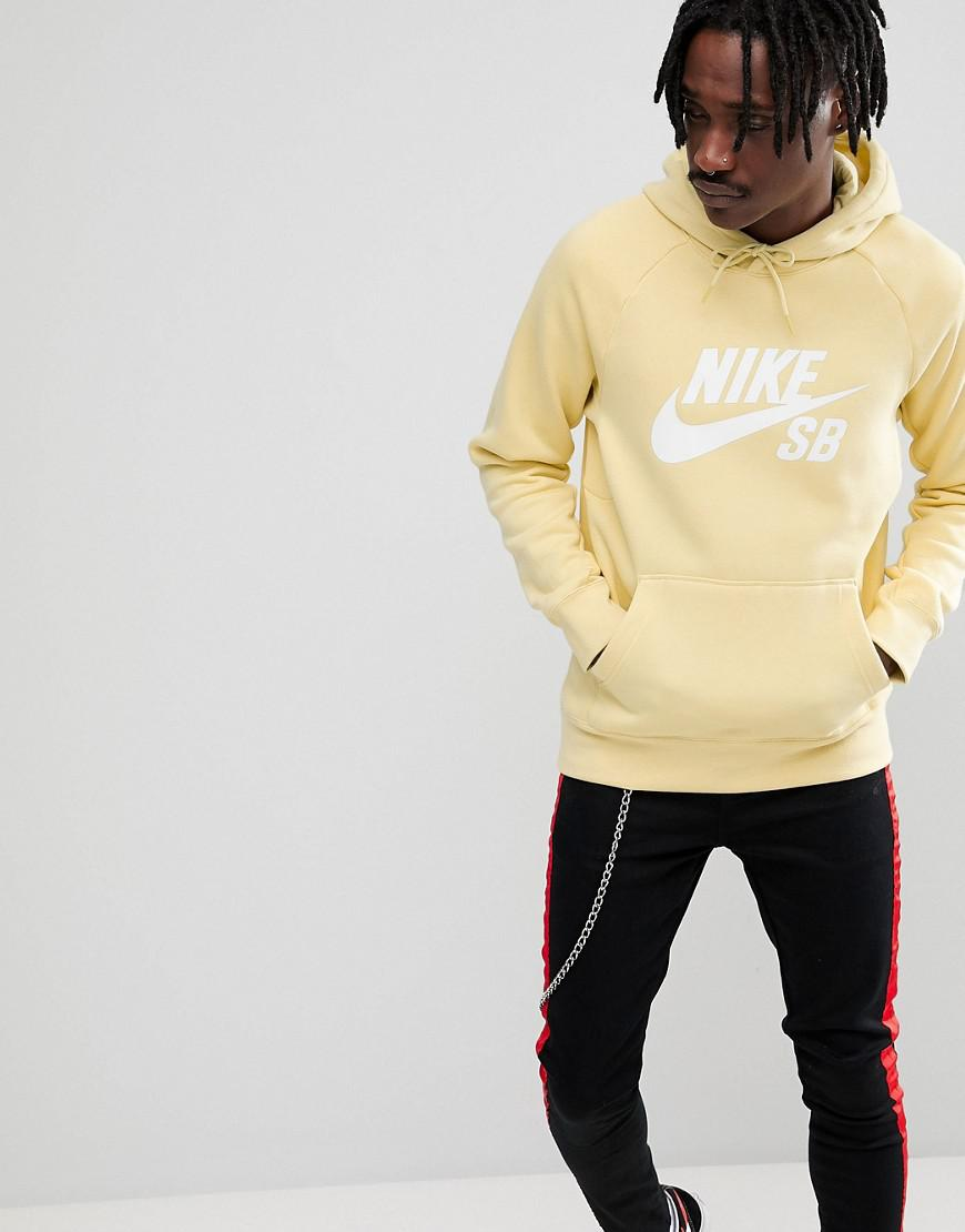 Icon Pullover Hoodie In Yellow 846886-721 - Yellow Nike Cheap Sale 100% Authentic gBZ6c
