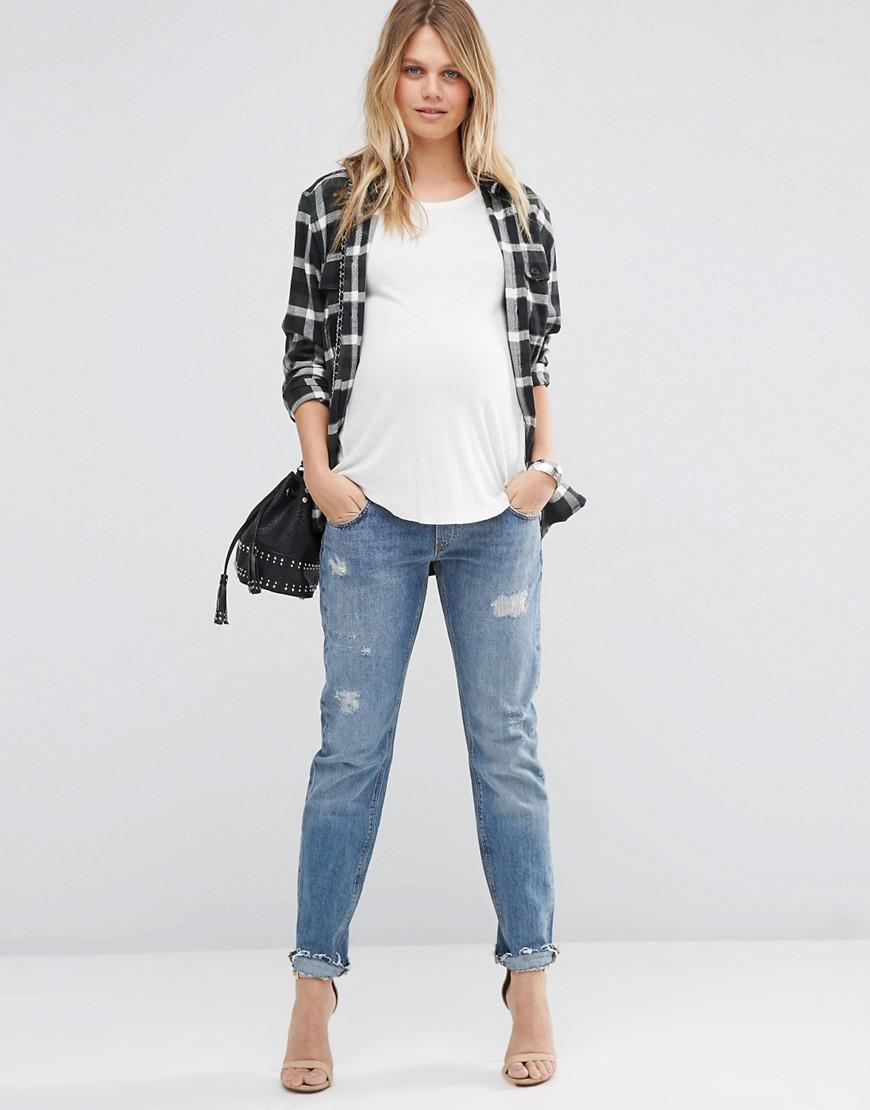 4d28c84fed8 Lyst - Asos Portland Loose Boyfriend Jeans With Embroidery And Rip ...
