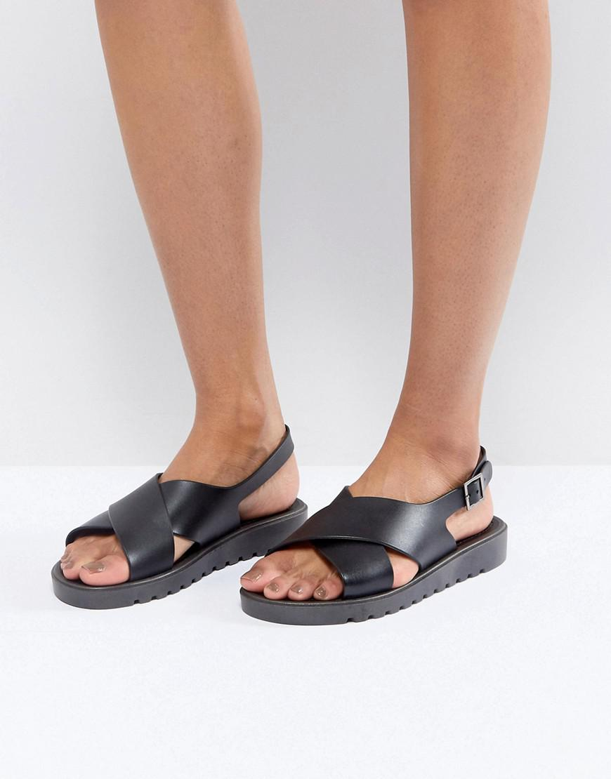 FREQUENT Wide Fit Jelly Flat Sandals - Black Asos Outlet Discount Footaction Online Browse Cheap Online Cheapest Price Cheap Price xSEUXNAyCR