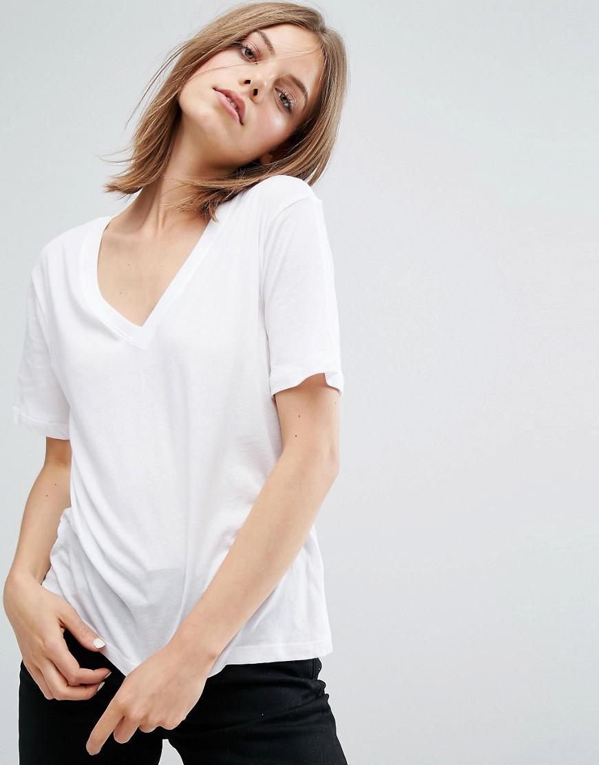 Weekday Ribbed Drop Shouder T-Shirt Cost Cheap Price Buy jqIWf