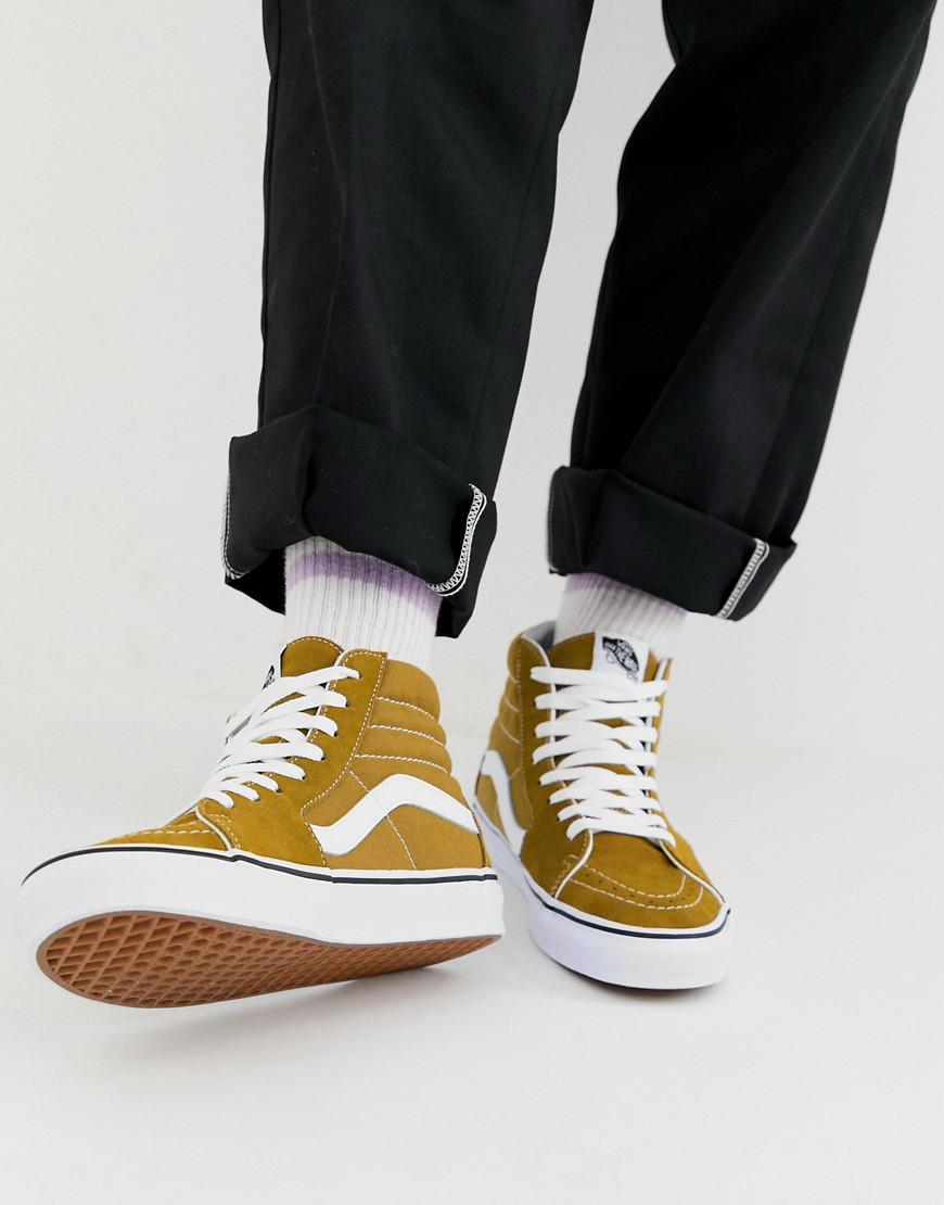 457e8cb6c445 Vans Sk8-hi Sneakers In Brown Vn0a38geukt1 in Yellow for Men - Lyst