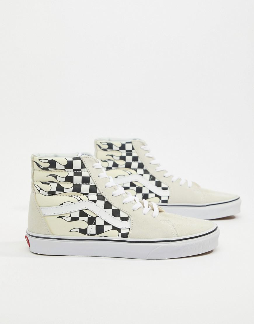 Vans Sk8 Hi Flame Trainers In White Va38gerx8 in White for Men - Lyst e59155a29