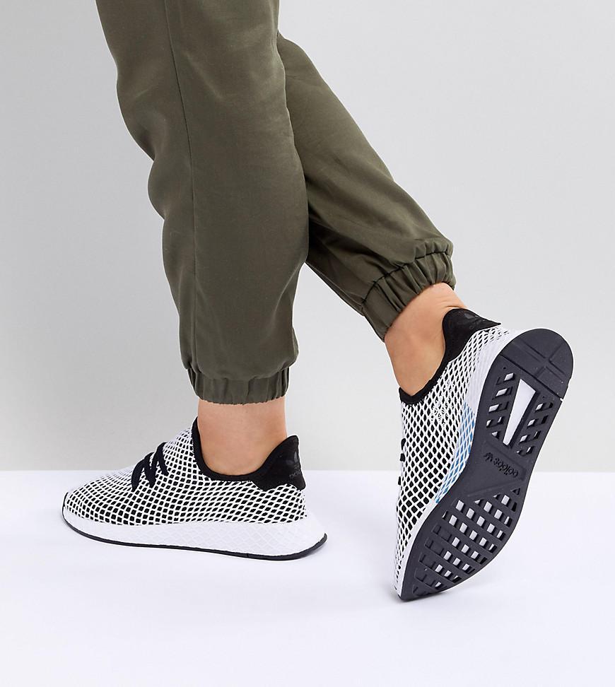 1f94720e5 Lyst - adidas Originals Deerupt Runner Sneakers In Black And Gray in ...