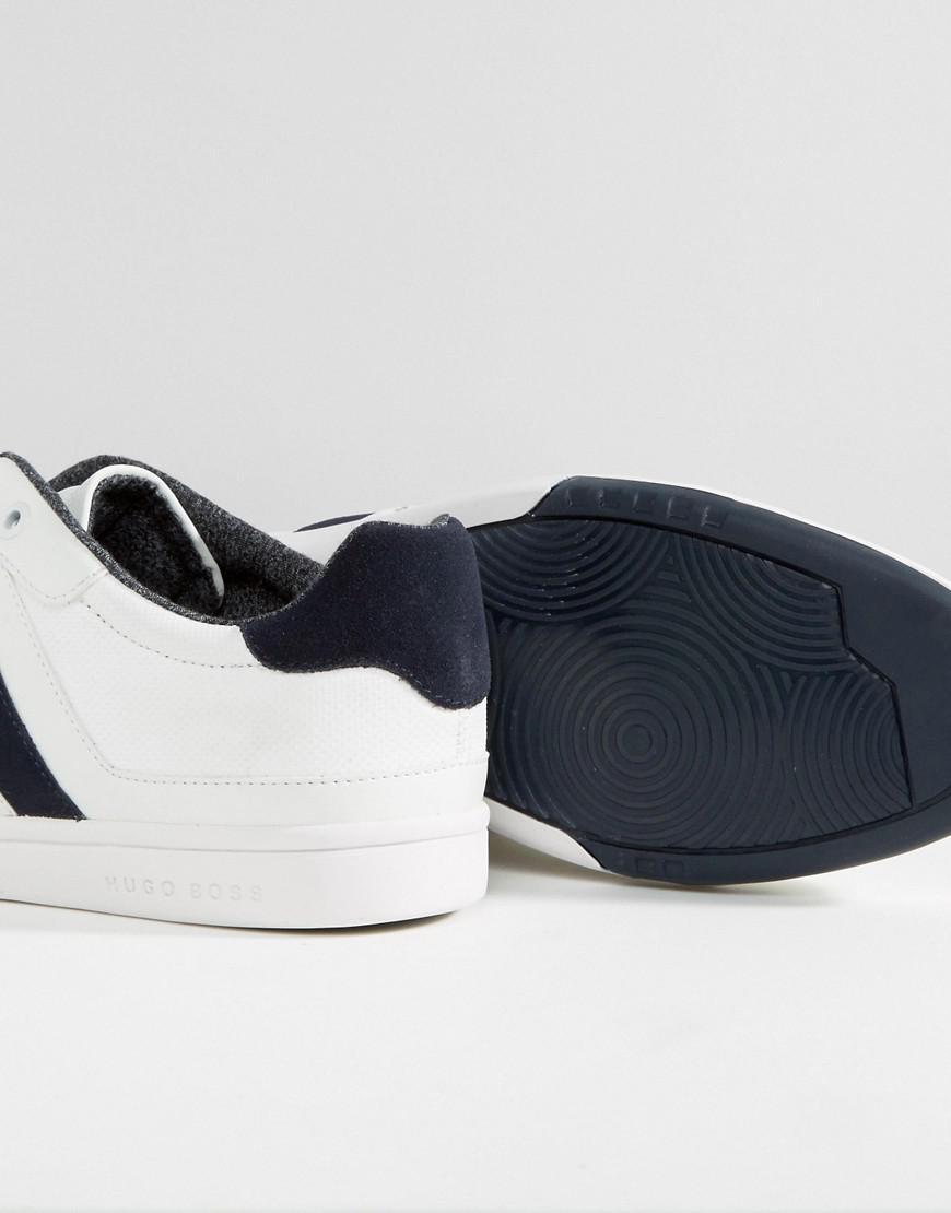 258ba110645 Lyst - BOSS Green By Hugo Boss Metro Tenn Sneakers in White for Men